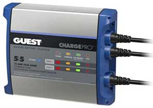 ChargePro・GUESTバッテリーチャージャー 10Amp 2Bank(5+5Amp) #2711A