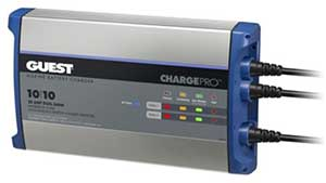ChargePro・GUESTバッテリーチャージャー 20Amp 2Bank(10+10Amp) #2720A