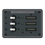 BlueSea スイッチパネル120VAC 3 Circuit Breaker